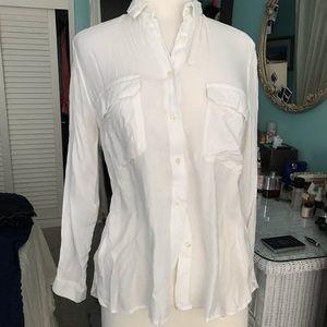 Super Soft Mango White Botton Down shirt